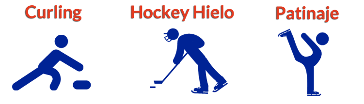 Curling, Hockey hielo, Patinaje