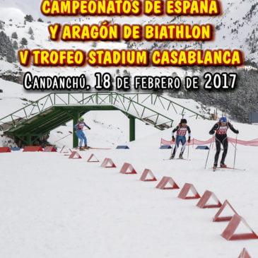 CAMPEONATOS DE ESPAÑA Y ARAGON DE BIATHLON.  V TROFEO STADIUM CASABLANCA