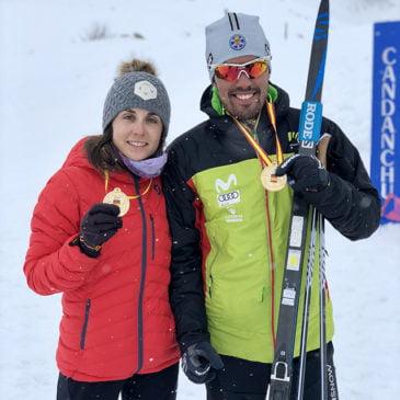Imanol Rojo y Marta Cester, campeones de España de esquí de fondo en técnica libre individual en Candanchú